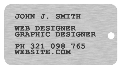 1 Creating A Dog Tag Shaped Business Card