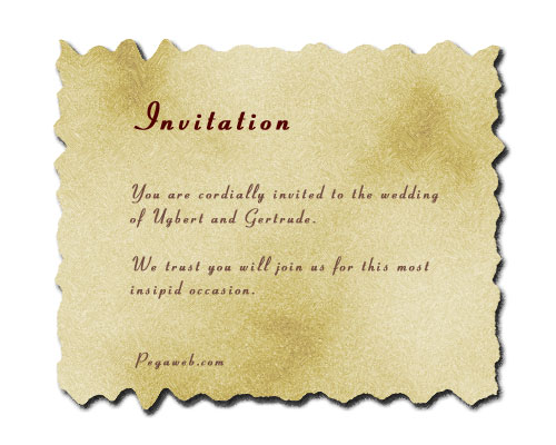 2 U2013 Scorching The Parchment  Marriage Invitation Sample Email